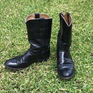 Vintage black Justin roper boots size 7.5!